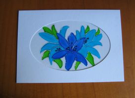 studio1world bahai inspired art - Diverse Flower cards - Art cards with glas paint